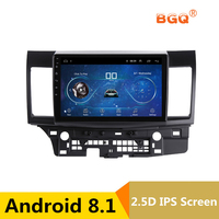 10.1 Android 8.1 Car DVD Multimedia Player GPS For MITSUBISHI LANCER 2008 2016 audio car radio stereo navigator bluetooth wifi