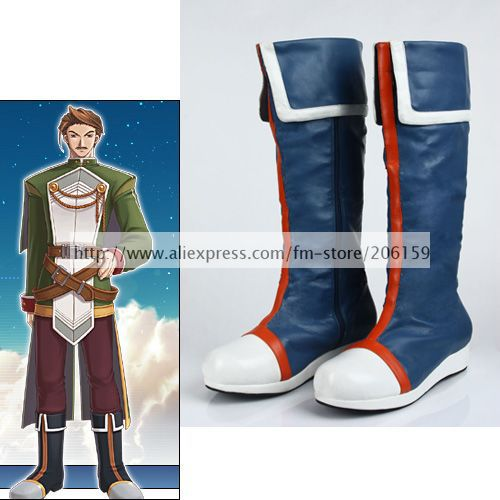 Cosplay font b Shoes b font Boots for the Legend of Heroes Eiyuu Densetsu Anime Cassius