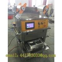 Precio FGJ-WD1812 automática 2 tazas de llenado de nitrógeno máquina selladora bandejas taza selladora sellador automático para vaso