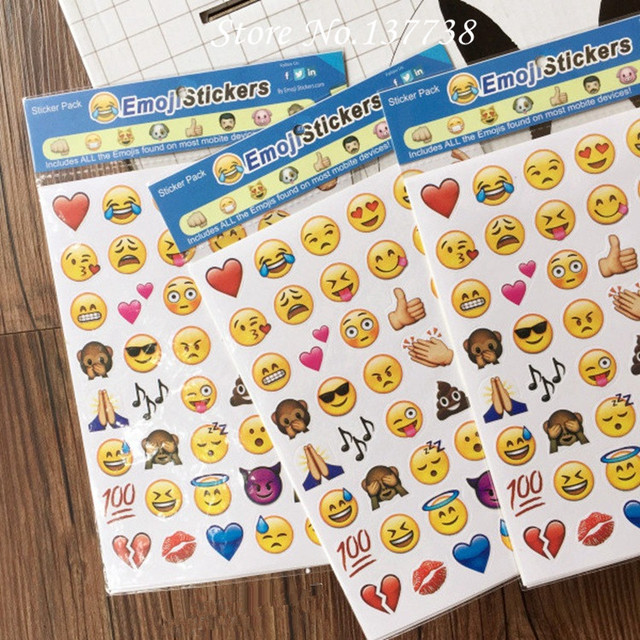 New 4pcs lot 200 die cut emoji smile sticker for laptop for notebook message baby
