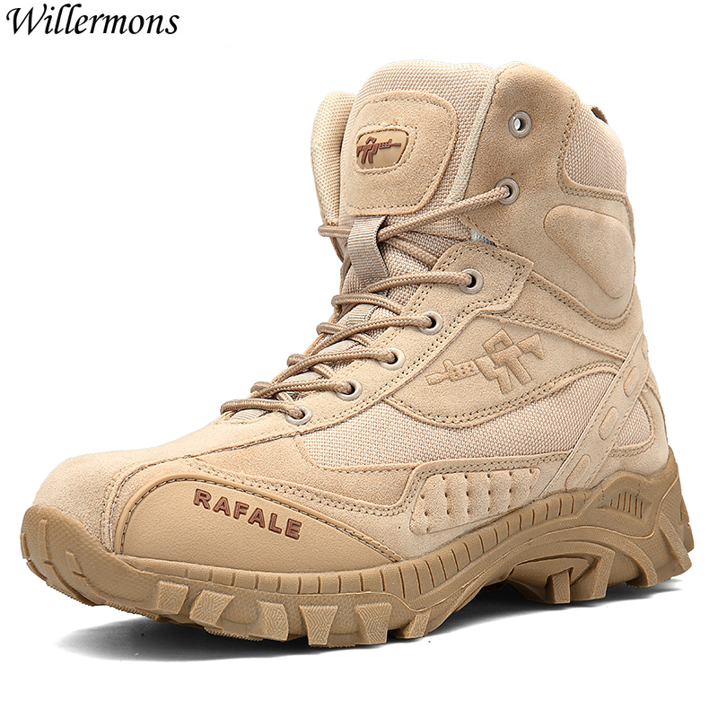 Special Force Combat Boots Men's Army Tactical Ankle Boots Men Anti-slip Military Safety Shoes Boots Botas Hombre men military delta special force tactical boots men s army outdoor desert combat boots shoes botas hombre