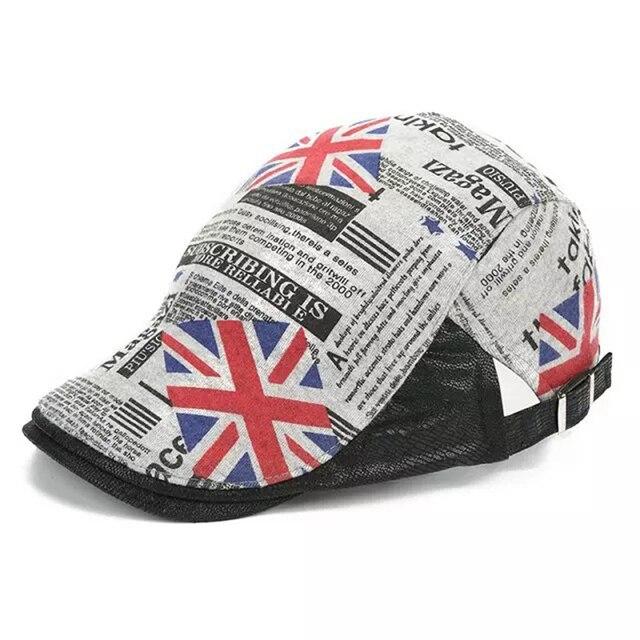 8b78ffc0e3f Fasbys Vintage Fashion Gentleman Octagonal Cap Newsboy British Flag Cap Men  Beret Hats Flat Caps for Cotton Beret Hats for Women