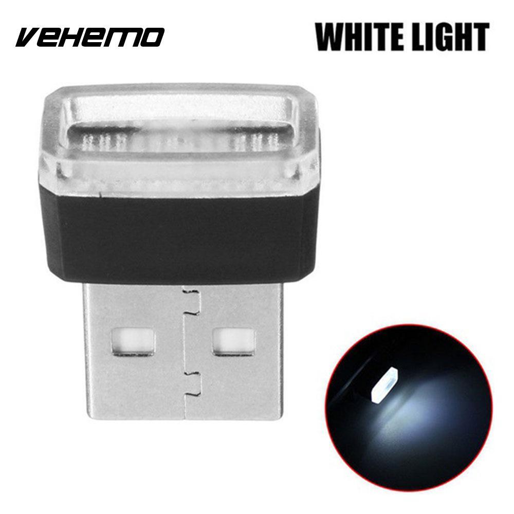 Vehemo Волшебные светодиодные фонарики атмосферный Свет Usb светодиодный свет автомобильное освещение беспроводной мини банк питания - Испускаемый цвет: white
