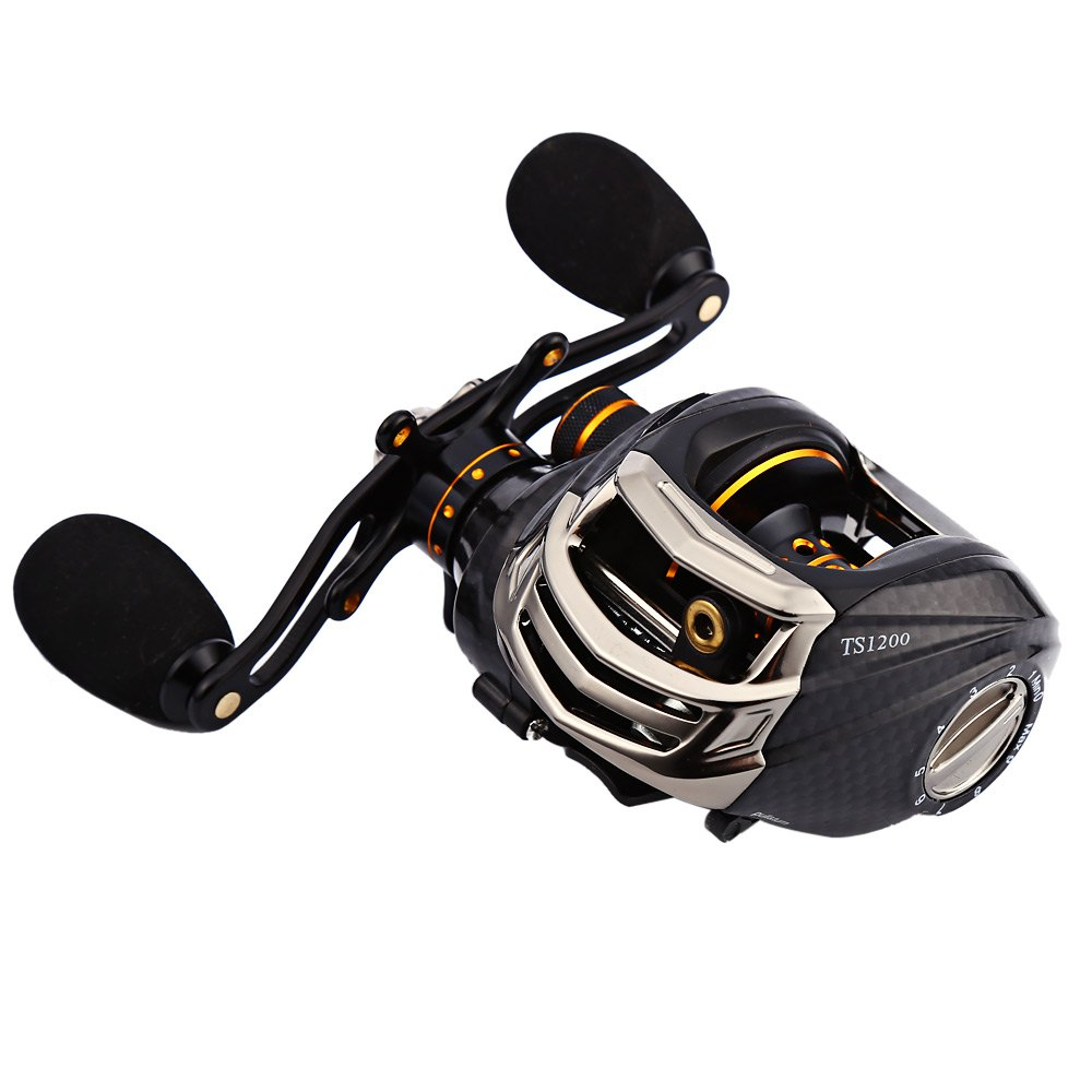 TSURINOYA TS1200 Black Left /Right Fishing Reel Gear Hand Bait Casting Reel 13+1 Ball Bearings Spinning Fishing Tackle