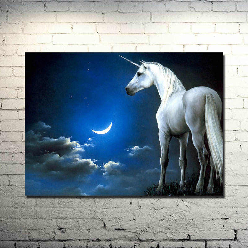 Horse Running Sunset Nature Animals Art Silk Poster Print 13x18 inch Nature Picture for Kids Living Room Wall Decor 001