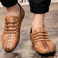 AD Acolorday 2017 Моды Случайные Кожаные Ботинки Мужчины Весна Комфортное Вождение Лодка Обувь Мокасины Старинные Скольжения на Мужской Обуви