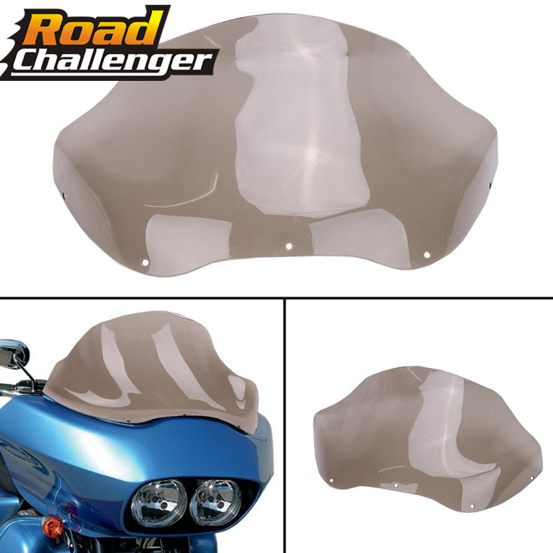 13 Wave Windshield Wind Screen ABS Plastic Motorcycle For Harley Road Glide FLTR 98 13