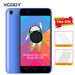 Android 8.1 Oreo XGODY X24 Dual 4G LTE Smartphone 5 Inch MT6739 Quad Core 1GB+8GB 2500mAh Bluetooth 4.0 Mobile Phone Cellphone
