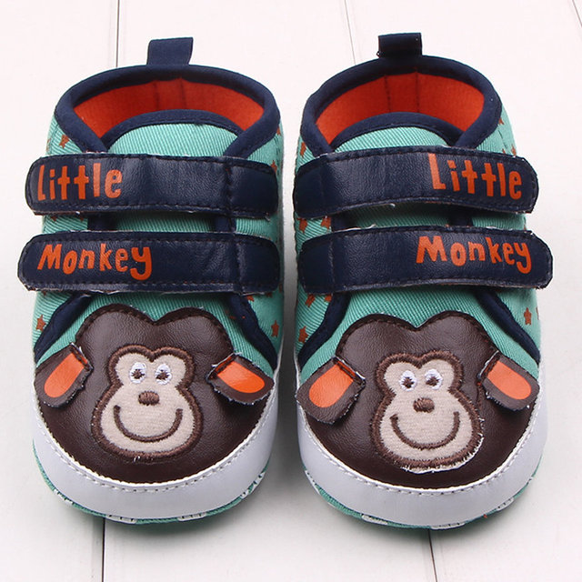 9b9b6dee1cb9d Lovely Monkey Little Star Baby Sneakers Boy Girl Soft Skid Proof Bottom  First Walkers Baby Leather Shoes Family Newborn Shoes -in First Walkers  from ...