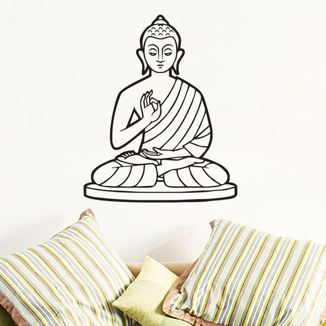 buddhist singles in walls Cheap wall stickers, buy directly from china suppliers:vinyl wall decal yoga buddha meditation art mural wall decor removable buddhist zen peace life wall sticker h57xw68cm/225x27.