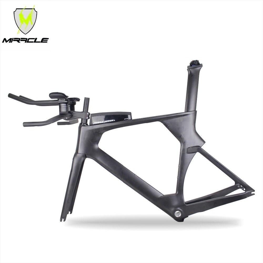 2018 nouvelle version AERO Triathlon vélos 49/52/54/56 cm lumière carbone contre-la-montre cadre tt095 chinois BICICLETA carbone TT cadre