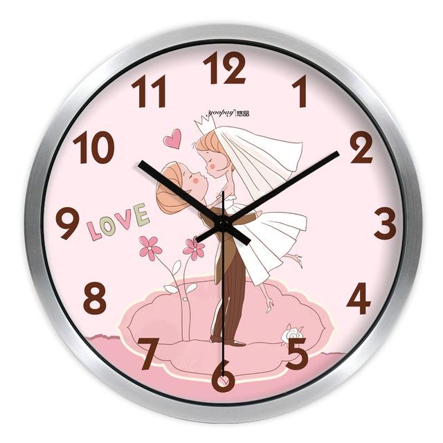 Creative Love Living Room Quiet Quartz Wall Clock Home Decoration Bedroom Fashion Creative Wall Clocks