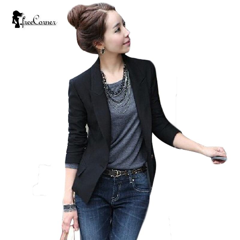 2017 New European Women Slim Casual Business Blazer Jackets Suit One Button Slim Lady's Blazers Work Wear Blazer Jackets Outwear