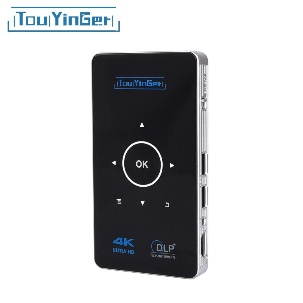 Поддержка 4 К Full HD видео touyinger S9 DLP Портативный проектор 2 ГБ Оперативная память Android 6.0 AC3 HDMI, Bluetooth, Wi-Fi miracast Airplay DLNA