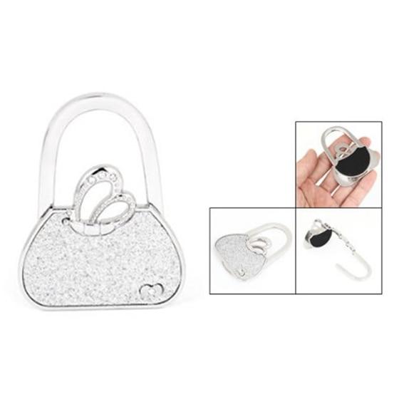 Горячие gczw-Бабочка Акцент Сумочка Стиль складной стол крюк кошелек вешалка держатель для Для женщин