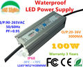 IP67 À Prova D' Água LED Driver 20 W 30 W 40 W 50 W 60 W 70 W 80 W 90 W 100 W fonte de Alimentação DC 20 V-36 V LED Driver do Adaptador de 110 V 220 V suprimentos