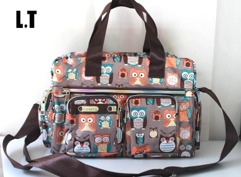2017 Lady Nylon Waterproof Owl Mult Pockets Bag Animal Diaper Travel Teacher Weekend Overnight Organizer Crossbody For Women In Bags From