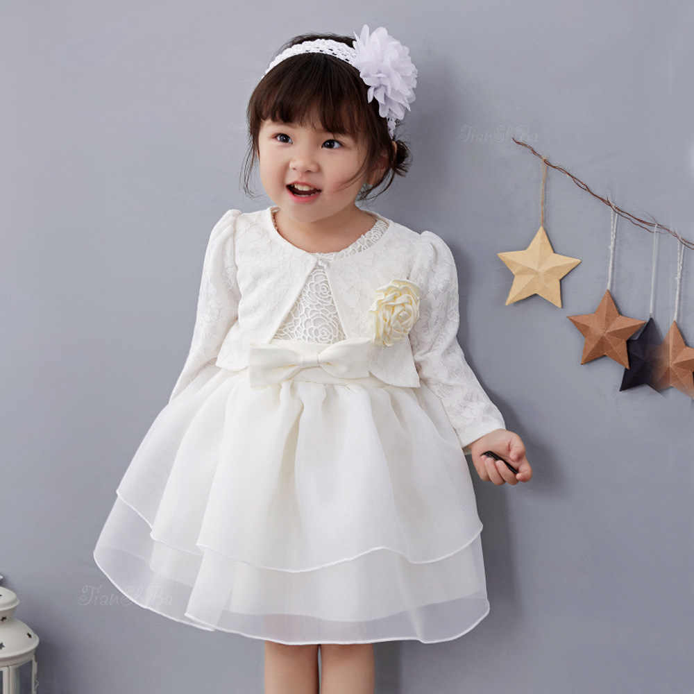 295bd14f09e49 Pink 1 Year Old Baby Girl Dress Princess Wedding Jacket Birthday Formal  Vestido 2019 Toddler Baby Clothes for Party RBF164704