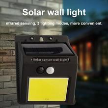 Solar COB Energy Saving Outdoor Garden Courtyard LED Wall Lamp 35COB Villa Human Induction