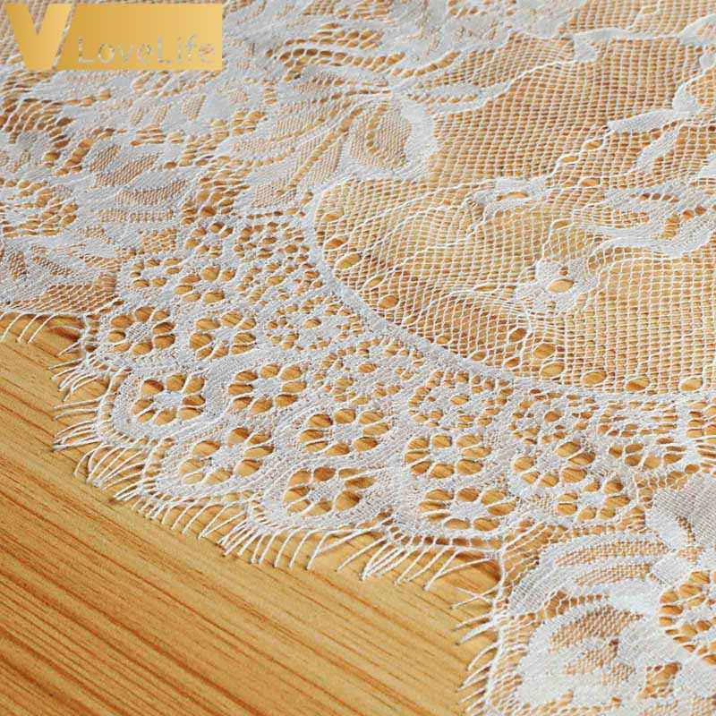 14 X 120 Inches White Lace Table Runner Rustic Chic Wedding Reception Table Decor Boho Party Decor Baby Bridal Shower Decor