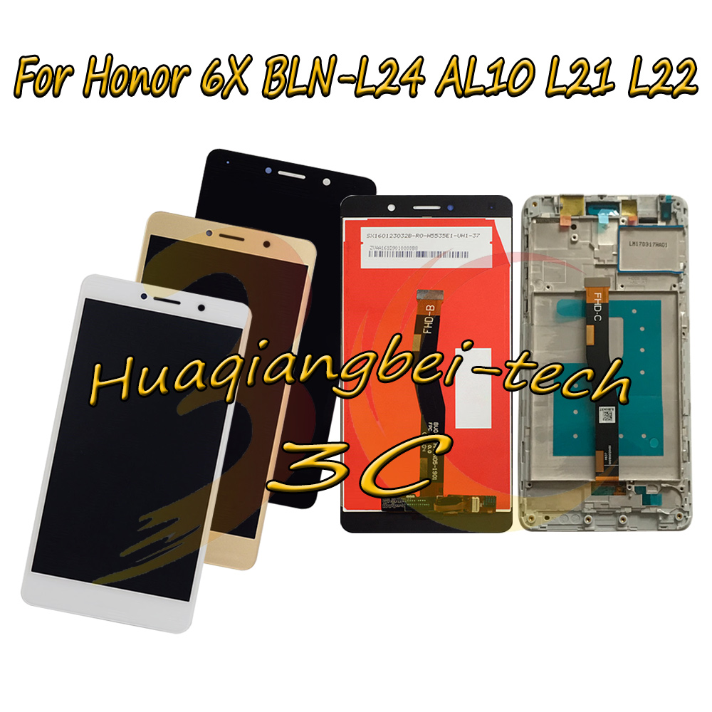 5.5'' New For Huawei Honor 6X BLN-L24 BLN-AL10 BLN-L21 BLN-L22 Full LCD DIsplay + Touch Screen Digitizer Assembly With Frame