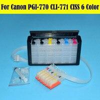 6 Color MG7770 Ciss Bulk Ink Supply System For Canon Printer PGI770 PGI771 770 Cartridge With ARC Chip
