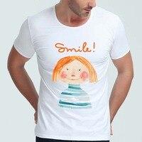 Men's Retro Sailor Anchor Print T-Shirt Vintage Letter T shirt Men Summer White T shirt Hipster Tees