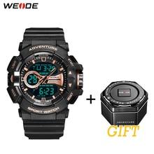 цены на New Design WEIDE LCD Digital watch 50 meters waterproof Fashion Luxury Brand Military Army Electronic Big Dial Man Wristwatches  в интернет-магазинах