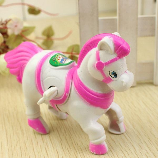 Clockwork Toy Toy-Figures Moving-Horse Classic Retro Vintage Running Kawaii Animal Kids