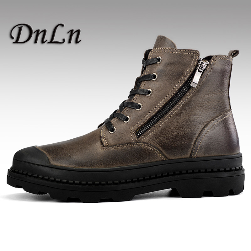Genuine Leather Botas Hombre Classic Ankle Work Boots First Layer Of Leather Men s Boots Autumn