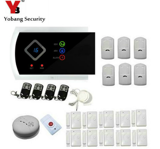 YobangSecurity Russian Spanish Italian Czech Wireless GSM Autodial Call SMS Text APP Home Office Security Burglar Intruder Alarm