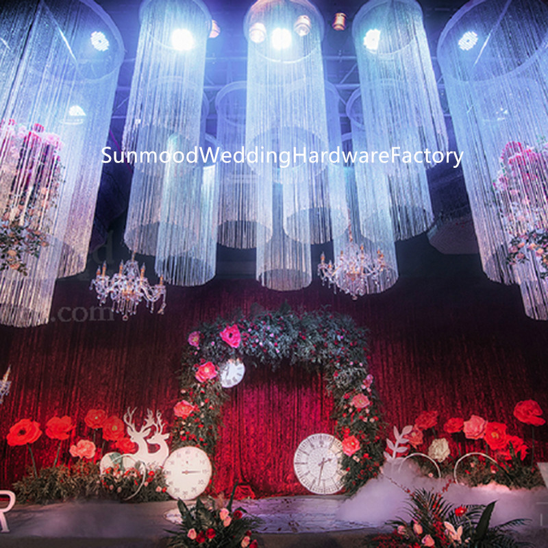 Us 380 0 20feet Long 6meter Cheap Wedding Decoration Stage Round Shape Curtain For Event Stage In Glow Party Supplies From Home Garden On