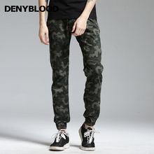 Denyblood Jeans Mens Stretch Cotton Chinos Men Hip Pop Crotch Pants Camouflage Joggers Pants Military for