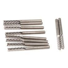 10 unids 3.175 * 15 mm carburo molino de extremo del CNC fresa PCB cortador de herramientas, placa de circuito PCB fresa brocas para CNC de corte(China (Mainland))