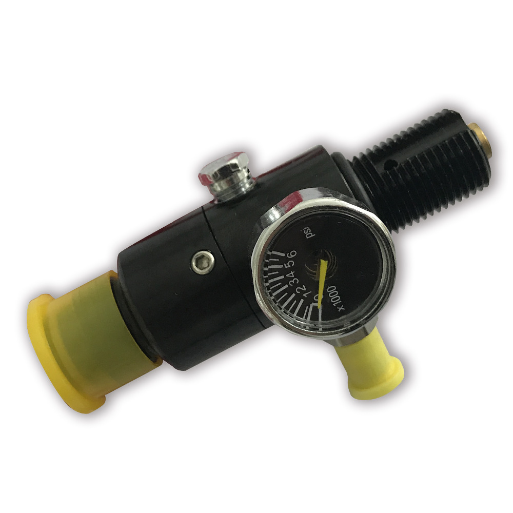 AC961 Pcp Paintball Airsoft High Pressure Tank Pcp Regulator M18*1.5 Thread Black 4500psi/1500psi/1800psi/2200psi Output