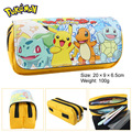Pocket Monster pen Picacho charmander double zipper bag wallet eevee large stationery bag