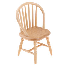 1/12 Dollhouse Miniatures Furniture Wooden DIY Mini Chair Model Decoration Mini Suitable for 1:12 dollhouse decoration.(China)
