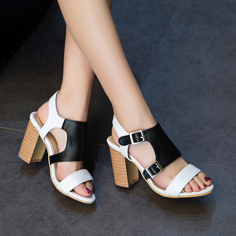 06491d43aaa SARAIRIS Big Size 50 women s Sandals Trendy New Hot Sale Fashion Gladiator  Chunky Heels Office Lady women s Shoes-in High Heels from Shoes on  Aliexpress.com ...