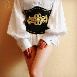 Black velvet wear short corset steel corset court corset vest belt