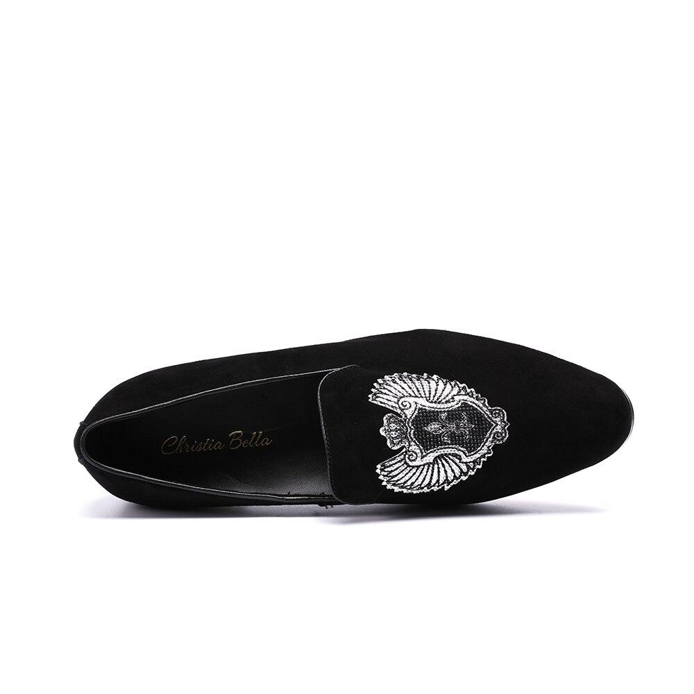 La Fond Taille Hommes Avec Chaussures Plus Partie Noir Mâle Appartements Mocassins Badge 47 38 Christia Velours Rouge Broderie Bella Banquet Et wt8q0
