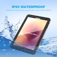 For Samsung Galaxy Tab A2 Case 10.5 T590 Tablet Waterproof Case Underwater Case Rain Snow DustProof Protective Slim Sport Cover