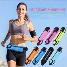 New Fashion Outdoor Running Waist Bag Waterproof Mobile Phone Holder Armbands Arm band Jogging Belt Belly Gym Fitness Bags