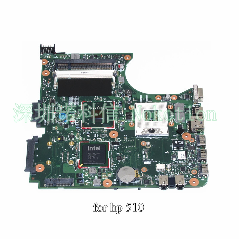 NOKOTION 538409-001 For HP Compaq 510 laptop motherboard GME965 DDR2 nokotion for acer aspire 5750 laptop motherboard p5we0 la 6901p mainboard mbrcg02005 mb rcg02 005 mother board