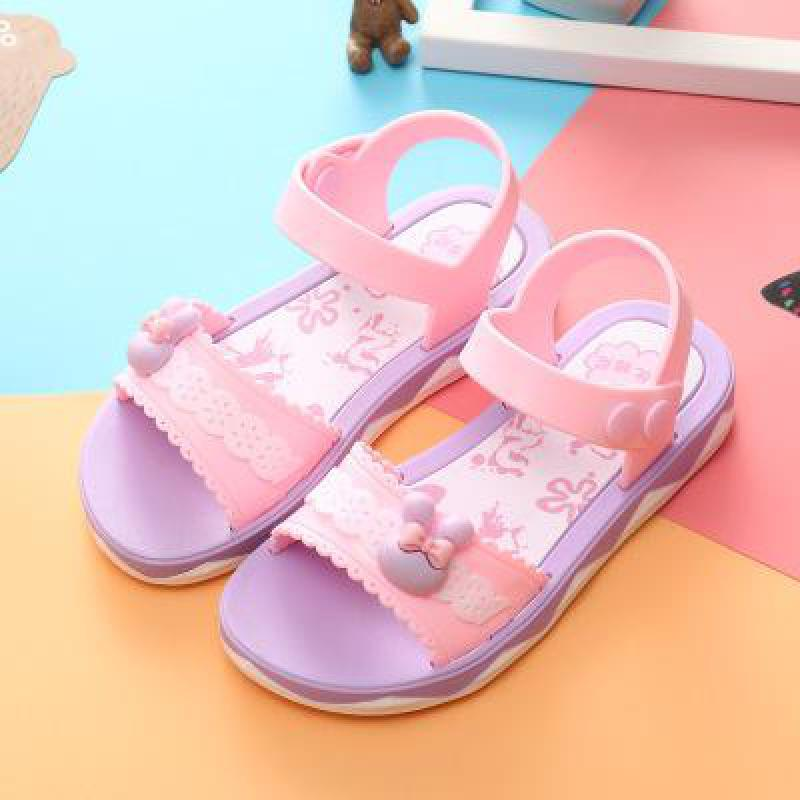 New Summer Children Sandals For Girls Baby Sandals Soft Leather Flowers Princess Girls Shoes Kids Beach Sandals Toddler Shoes