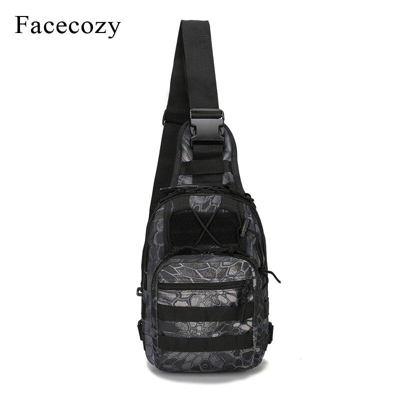 Bolsa de pesca militar al aire libre Facecozy mochila de escalada impermeable hombro táctico Camping mochila de camuflaje bolsa de pesca