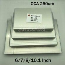 250um OCA клейкая наклейка для ipad для iPhone 6/7/8/10,1 дюймовый экран для производства бумажных ламинатов запасные части для Mitsubishi oca оптическая прозрачная пленка