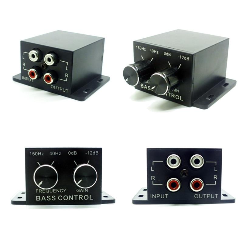 Auto Subwoofer Power Car Amplifier Audio Regulator Bass Equalizer Crossover Controller RCA Adjust Line Level Volume Autoradio