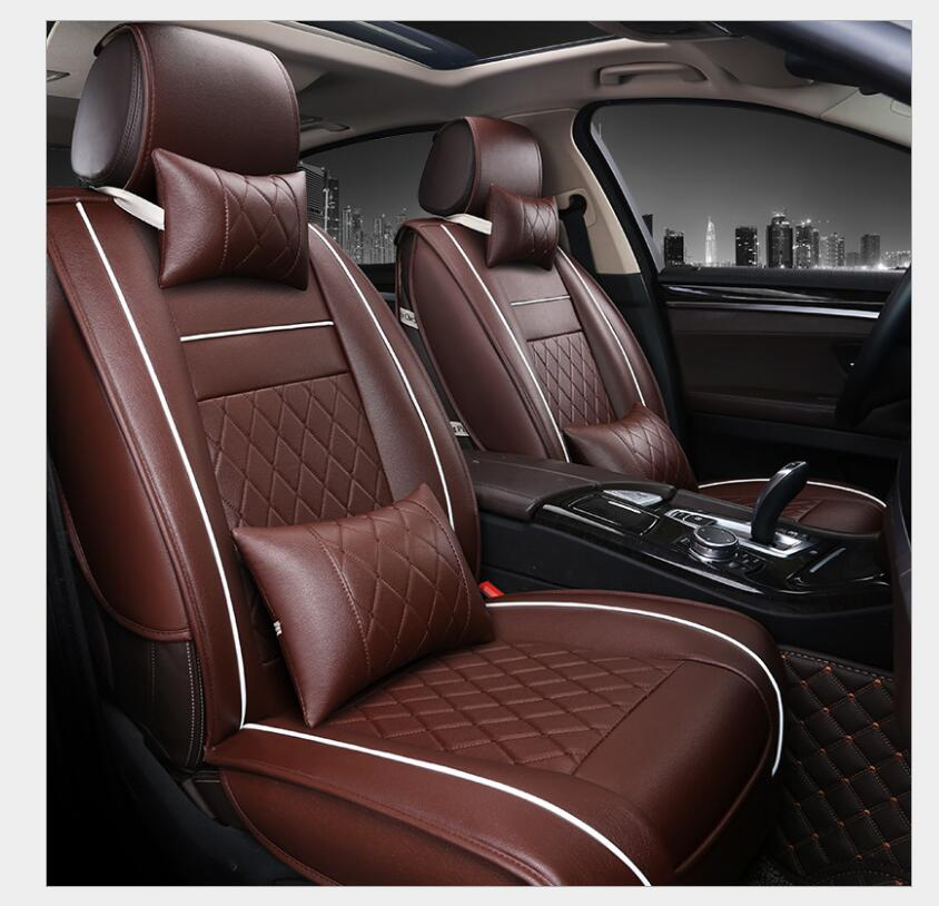 Special leather car seat covers For Citroen All Models c4 c5 c2 c3 drain BLACK/RED/BEIGE/BROWN auto accessories