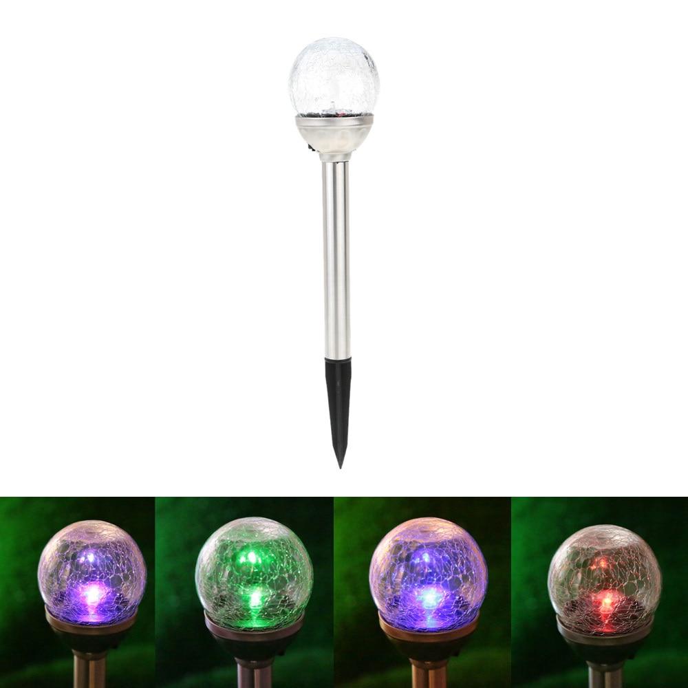 U Easy Solar Power Led Light Crackle Glass Round Ball