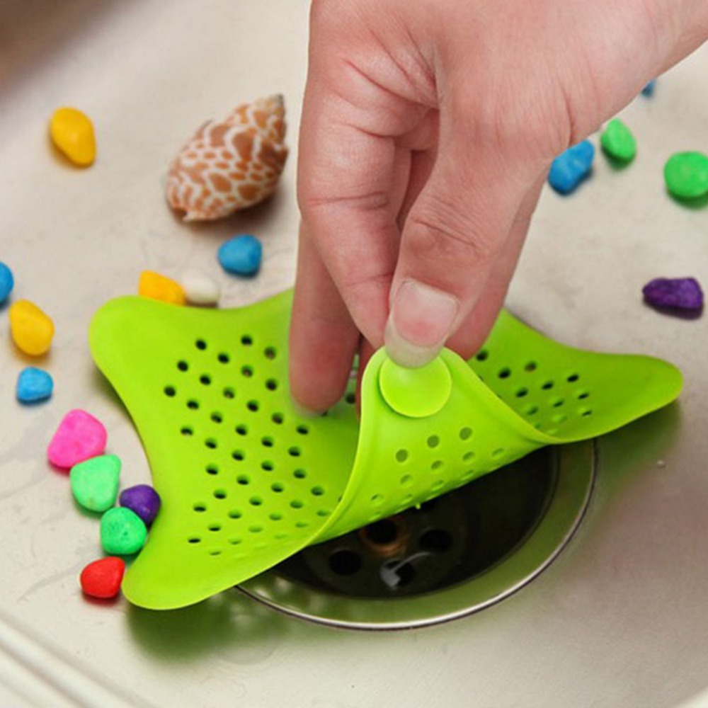 New Arrival Kitchen Gadgets Accessories Star Outfall Drain Cover Basin Sink Strainer Filter Shower Hair Catcher Stopper Plug